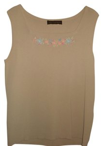 Linda Matthews Tank Embroidered Sweater