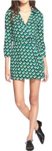 Diane von Furstenberg short dress bricks- green Dvf Romper Green Short Sexy on Tradesy