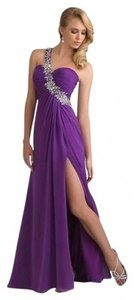 Night Moves Prom Collection One Shoulder Open Back Full Length. Dress