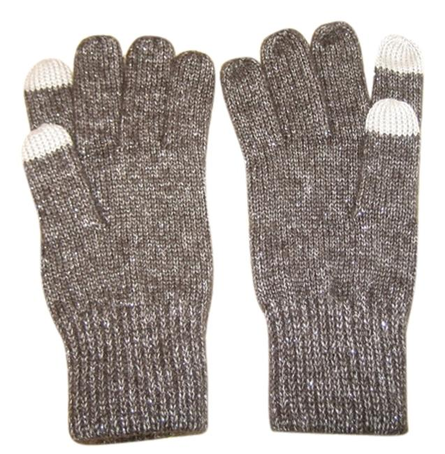 Item - Charcoal Touchscreen Friendly Shimmer Gloves