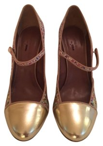 Tabitha Simmons Designed For J.crew Multi + Gold Toe Pumps