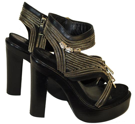 Givenchy Leather Zippers black Pumps Image 1