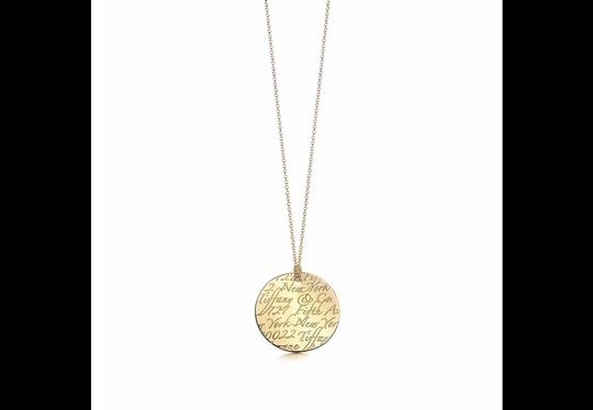 Tiffany & Co. Tiffany Notes Pendant in 18k yellow gold on 16'' chain Image 3