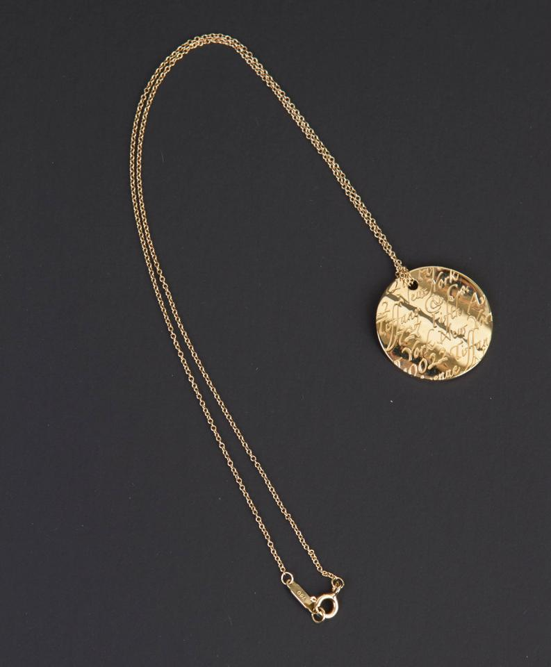 Tiffany co gold notes pendant in 18k yellow on 16 chain tiffany co gold notes pendant in 18k yellow on 16 chain necklace tradesy aloadofball Images