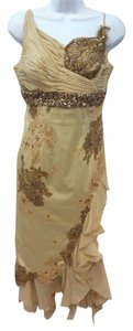 Mandalay Brown Embellished Beaded Dress