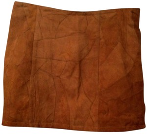 Charlotte Russe Mini Skirt Rusty Brown