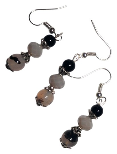 Preload https://img-static.tradesy.com/item/11939551/black-gray-silver-pair-with-a-spare-handmade-3-piece-white-agate-a124-earrings-0-1-540-540.jpg