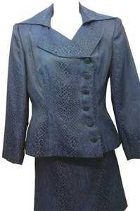 AFTER FIVE AFTER FIVE NAVY BLUE SKIRT SUIT 6