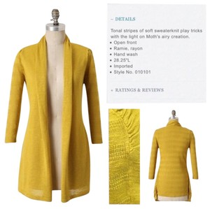 Anthropologie Yellow Bird Shadowsleeves Cardigan