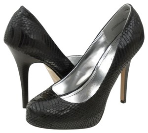 Bamboo Imitation Leather Pump Black Pumps