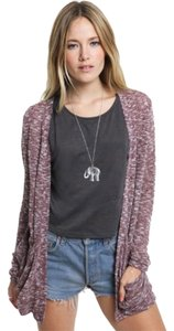 Urban Outfitters Sparkle Fade Drape Pocket Opened Roll-up Cardigan