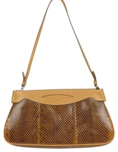 Tod's Lizard Brown Handbag Shoulder Bag