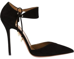 Aquazzura Black Satin Pumps