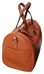 Dooney & Bourke Leather Satchel in Caramel