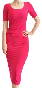 Marciano Ruched Pink Jersey Dress