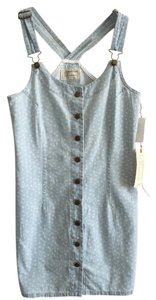Current/Elliott short dress Faded Denim Polka Dot Overalls Jumper Coveralls on Tradesy