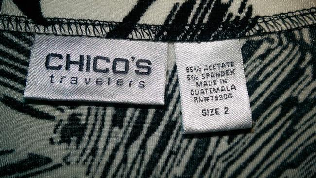 Chico's Top Black and White