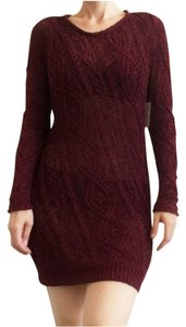 Joie short dress Merlot Ribbon Weave Open Weave Sweater Burgandy Wine on Tradesy