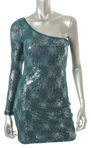 Trixxi Clubwear Geen Sequin Lace Mini Juniors Dress