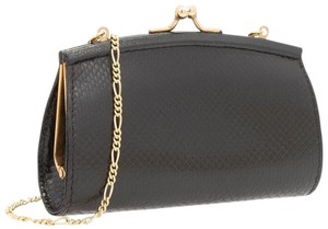 Judith Leiber Lizard Evening Black Clutch