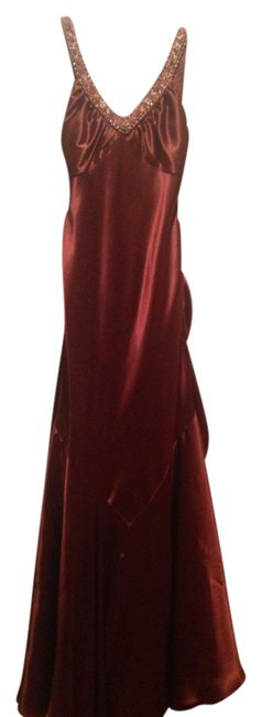 Faviana Couture Formal Gown Prom Red Dress