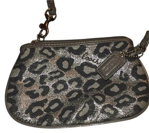 Coach Wristlet in Mettalic animal Print