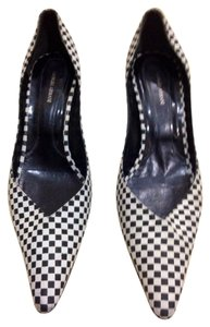 Giorgio Armani Black and White Checkered Pumps
