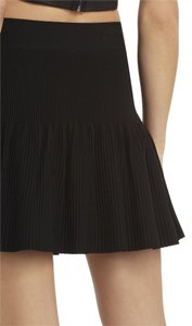 BCBGMAXAZRIA Ruffled Mini Skirt BLACK
