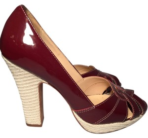 Cole Haan Patent Leather Wine Red Sandals