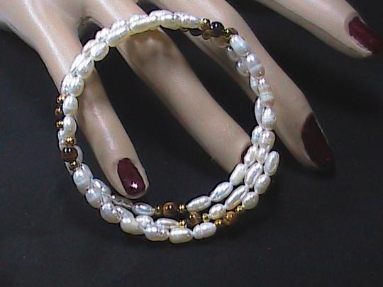 Unknown Brand New FreshWater & Cat eye Coil Bracelet Image 2