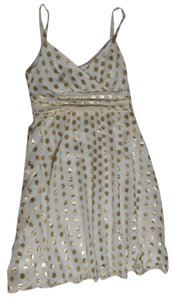 H&M short dress White with Gold Dots on Tradesy