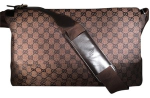 Gucci Monogram Brown Messenger Bag