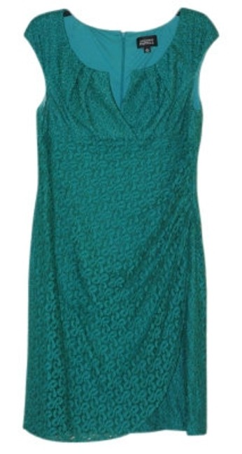 Preload https://item4.tradesy.com/images/adrianna-papell-emerald-green-lace-overlay-ruch-knee-length-cocktail-dress-size-10-m-11943-0-0.jpg?width=400&height=650