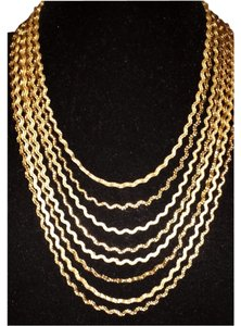 Neiman Marcus Fragments Golden Curly Chain Necklace