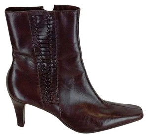 Michelle D Leather Accent Brown Boots