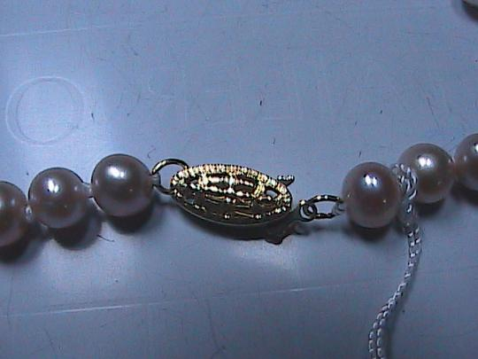 Hongkong Jeweler 14k Solid Yellow Gold Pink Cultured FW Pearl Necklace