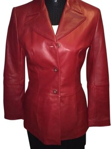 BP. Clothing Leather Lambskin RED Leather Jacket