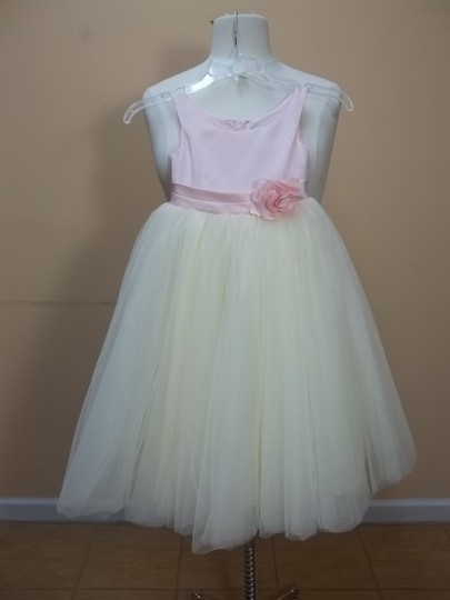 Alfred Angelo Pink/Butter Cup Satin 6316 Formal Bridesmaid/Mob Dress Size OS (one size)