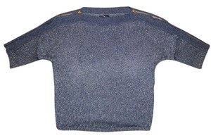 Gap Zippers Boatneck Knitted Short-sleeve Sweater