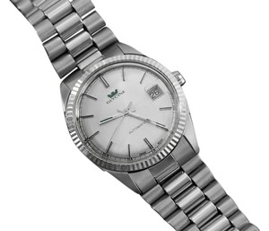 Glycine 1980's Glycine Vintage Mens Rolex Datejust Style Watch - Stainless Steel & White Gold