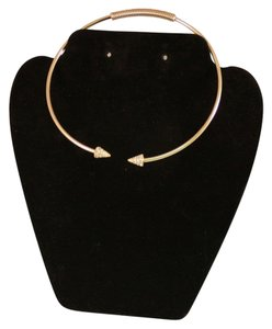 Faux Diamond Ends Gold Choker