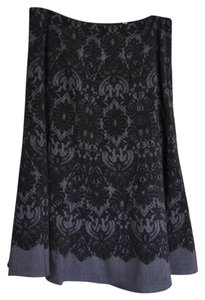 Tahari A-line Skirt Gray/Black