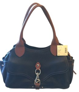 Cole Haan Two-tone Satchel in Black/Brown