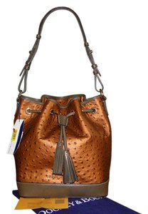 Dooney & Bourke Leather Ostrich Shoulder Bag