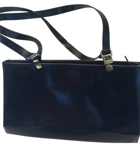 Francesco Biasia Italian Smooth Leather Satchel in Black