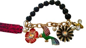 Betsey Johnson New Betsey Johnson Flower Bird Charm Bracelet J271