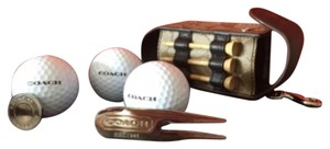 Coach Coach F60459 Heritage Stripe Golf Ball Set MSRP $88