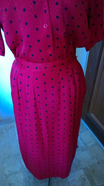 Nordstrom Nordstrom red with poka dots silk skirt outfit Image 1