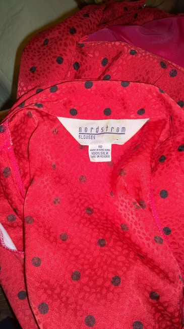 Nordstrom Nordstrom red with poka dots silk skirt outfit Image 3