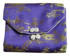 Asian design purple and gold jewelry roll